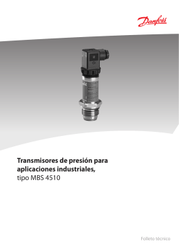 Transmisores de presión para aplicaciones