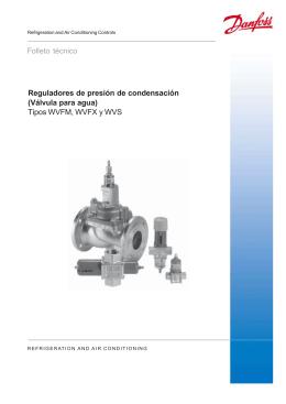 DANFOSS - reguladores de presión de condensación