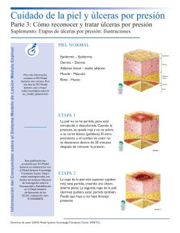 Cuidado de la piel y úlceras por presión