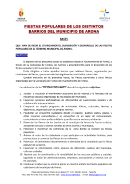 FIESTAS POPULARES DE LOS DISTINTOS BARRIOS DEL