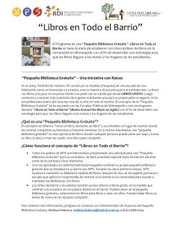 """""""Libros en Todo el Barrio"""""""