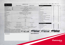 Datos técnicos - Mahindra Zaragoza