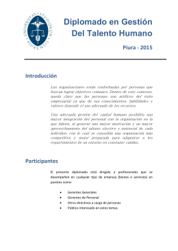 documento informativo - Universidad de Piura