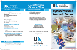 Folleto de la Especialización en Farmacia Clínica