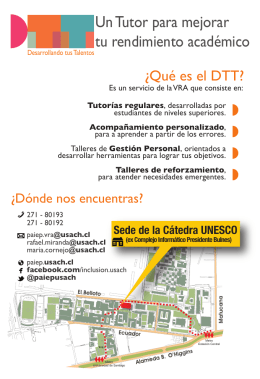 folleto dtt - Universidad de Santiago
