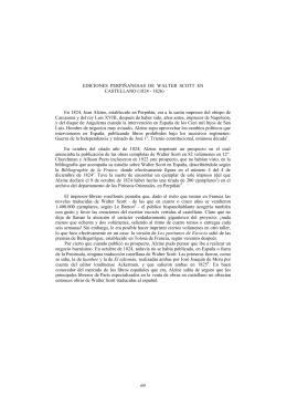 Ediciones Perpiñanesas de Walter Scott en castellano (1824