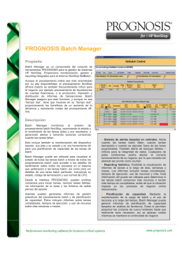 PROGNOSIS Batch Manager