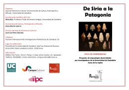 De Siria a la Patagonia - Universidad de Cantabria
