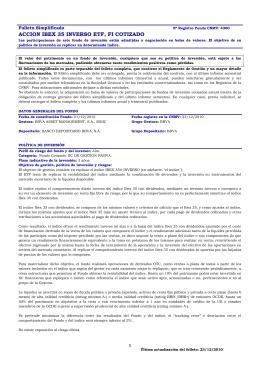 ACCION IBEX 35 INVERSO ETF, FI COTIZADO