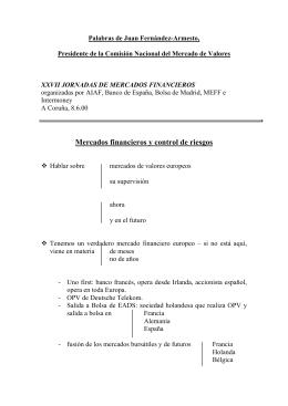 XXVII Jornadas de Mercados Financieros.