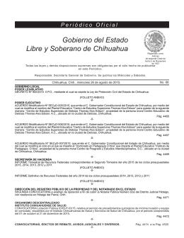 Miércoles 26 de agosto de 2015 - Gobierno del Estado de Chihuahua