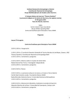 1 Instituto Nacional de Antropología e Historia Coordinación