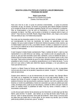 Programa Red Madre. Rafael Lozano Rubio