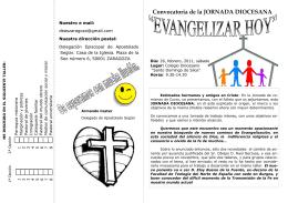 Convocatoria de la JORNADA DIOCESANA