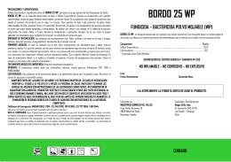 bordo 25 wp fungicida - Servicio Agrícola y Ganadero