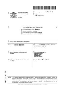 ARTICULOS ABSORBENTES DE COLOR OSCURO.(ES2272512)