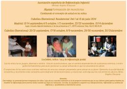 Folleto. Nueva Formación de Reflexologia Infantil otoño 2014
