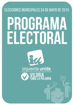 PROGRAMA ELECTORAL - Izquierda Unida Valladolid