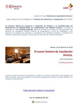 Jornada EL NUEVO SISTEMA DE LIQUIDACIÓN DIRECTA folleto