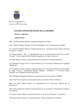 ACTA DEL CONSEJO MUNICIPAL DE LAS MUJERES FECHA: 23
