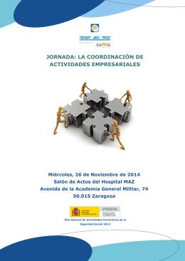 jornada: la coordinación de actividades empresariales