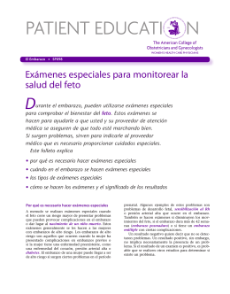 Patient Education Pamphlet, SP098, Exámenes especiales para