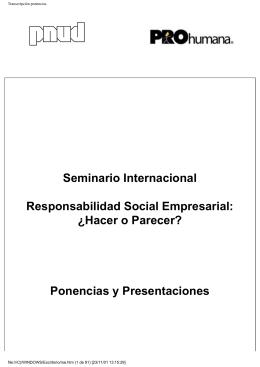 Transcripción ponencias