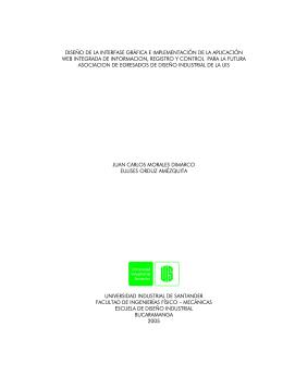 diseño de la interfase gráfica e implementación de la aplicación