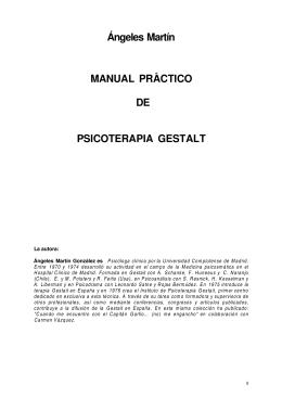 Ángeles Martín MANUAL PRACTICO DE PSICOTERAPIA GESTALT