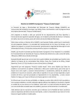 """Reactiva la CAAMTH el programa """"Tizayuca Ciudad Limpia"""""""