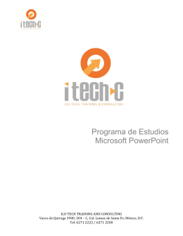 Programa de Estudios Microsoft PowerPoint