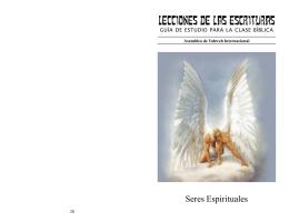 LECCIONES DE LAS ESCRITURAS