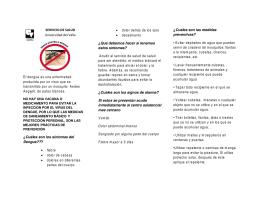 SERVICIO DE SALUD Universidad del Valle El dengue es una