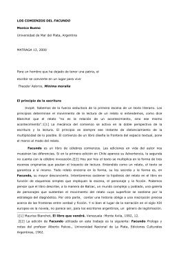 LOS COMIENZOS DEL FACUNDO Monica Bueno Universidad de