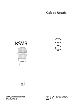 Shure KSM9 User Guide Spanish
