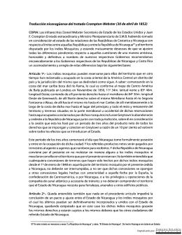 Tratado Crampton-Webster del 30 Abril 1852