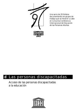 Acceso de las personas discapacitadas a la educación