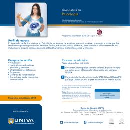 Archivo Descargable - Folleto Licencitura en Psicología
