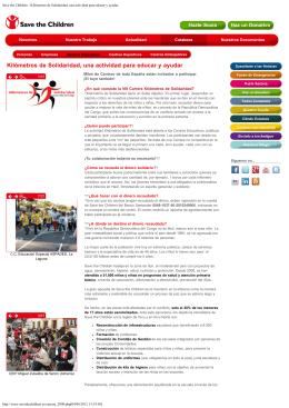 Kilómetros de Solidaridad, una actividad para educar y ayudar