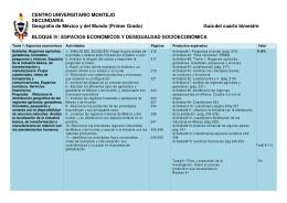 CENTRO UNIVERSITARIO MONTEJO SECUNDARIA Geografía de