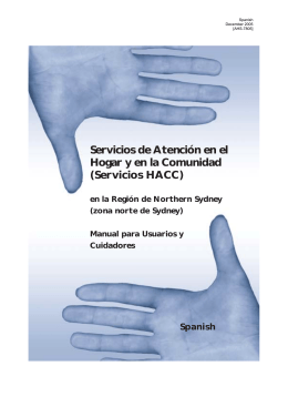 Servicios HACC - the NSW Multicultural Health Communication