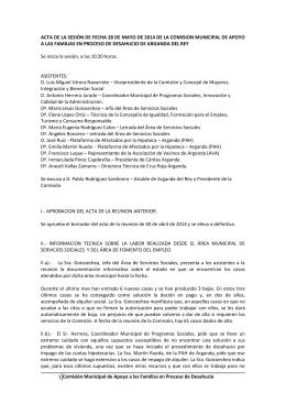 Acta de la reunión de la comisión de fecha 28 de mayo 2014