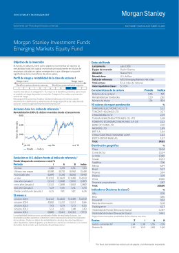Morgan Stanley Investment Funds Emerging Markets Equity Fund