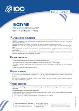 FT INOZYME (ES) - Institut Oenologique de Champagne