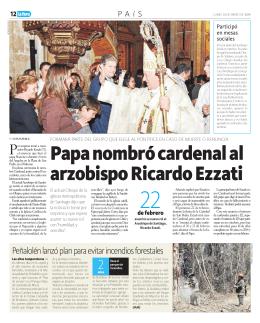 Papa nombró cardenal al arzobispo Ricardo Ezzati