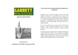 MANUAL DE INSTRUCCIONES Garrett tesoro con