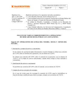OPERACIONES DE LETRAS DEL TESORO, DEUDA Y