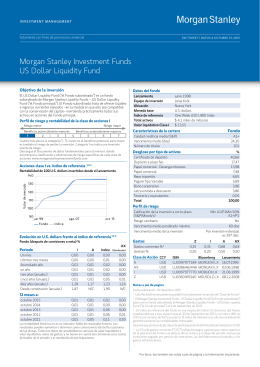 Morgan Stanley Investment Funds US Dollar Liquidity Fund