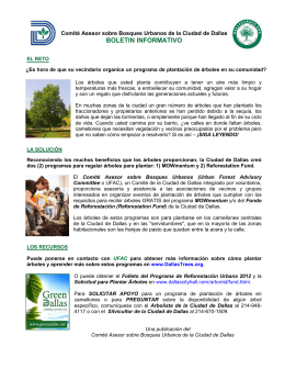 BOLETIN INFORMATIVO - Dallas Urban Forest