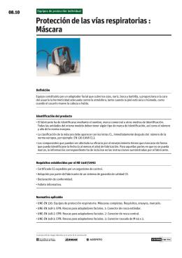 Protección de las vías respiratorias : Máscara